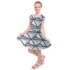 White Architectural Structure Kids  Short Sleeve Dress by Pakrebo