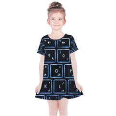 Contemporary Electronics Graphic Modern Kids  Simple Cotton Dress by Pakrebo