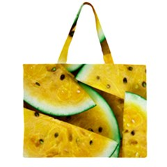 Sliced Watermelon Lot Zipper Large Tote Bag