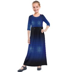Black Portable Speaker Kids  Quarter Sleeve Maxi Dress