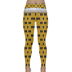 Yellow And Black Pattern Classic Yoga Leggings by Pakrebo