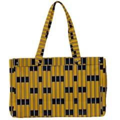 Yellow And Black Pattern Canvas Work Bag