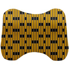 Yellow And Black Pattern Head Support Cushion