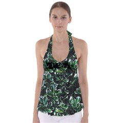 Beautiful Botanical Bright Babydoll Tankini Top