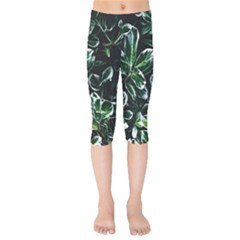 Beautiful Botanical Bright Kids  Capri Leggings  by Pakrebo