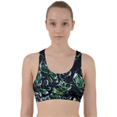 Beautiful Botanical Bright Back Weave Sports Bra