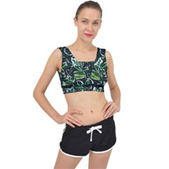 Beautiful Botanical Bright V Back Sports Bra