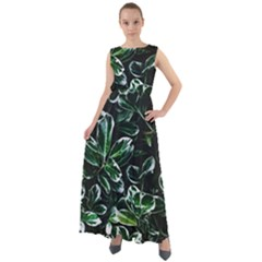 Beautiful Botanical Bright Chiffon Mesh Maxi Dress