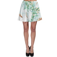Floral Boho Watercolor Pattern Skater Skirt by tarastyle