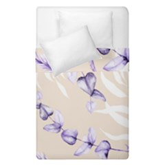 Floral Boho Watercolor Pattern Duvet Cover Double Side (single Size)