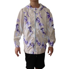 Floral Boho Watercolor Pattern Kids  Hooded Windbreaker