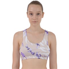 Floral Boho Watercolor Pattern Back Weave Sports Bra
