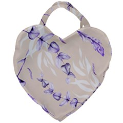 Floral Boho Watercolor Pattern Giant Heart Shaped Tote