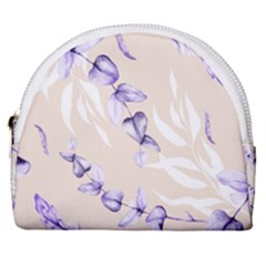Floral Boho Watercolor Pattern Horseshoe Style Canvas Pouch
