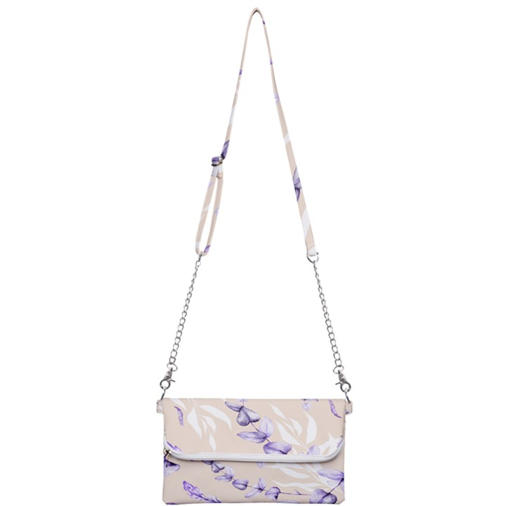Floral Boho Watercolor Pattern Mini Crossbody Handbag