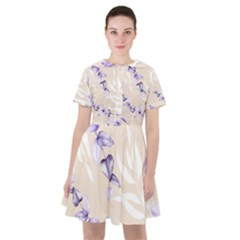 Floral Boho Watercolor Pattern Sailor Dress