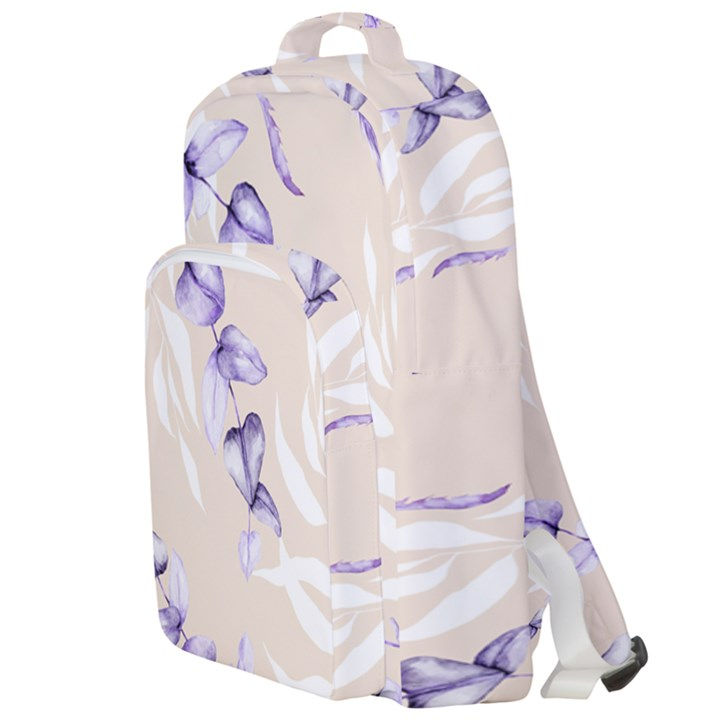 Floral Boho Watercolor Pattern Double Compartment Backpack