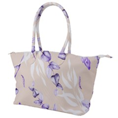 Floral Boho Watercolor Pattern Canvas Shoulder Bag