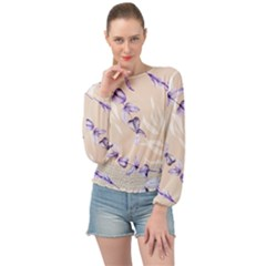 Floral Boho Watercolor Pattern Banded Bottom Chiffon Top by tarastyle