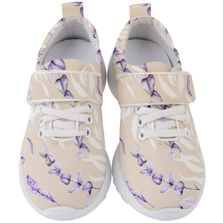 Floral Boho Watercolor Pattern Kids  Velcro Strap Shoes