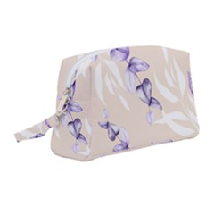 Floral Boho Watercolor Pattern Wristlet Pouch Bag (medium)