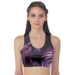 Purple Leaves Sports Bra
