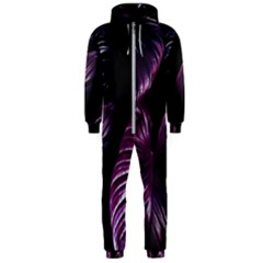 Purple Leaves Hooded Jumpsuit (men)
