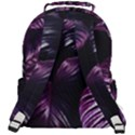 Purple Leaves Rounded Multi Pocket Backpack View3