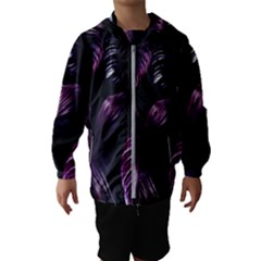 Purple Leaves Kids  Hooded Windbreaker