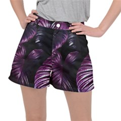 Purple Leaves Ripstop Shorts