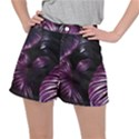 Purple Leaves Ripstop Shorts View1