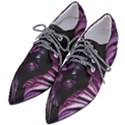 Purple Leaves Pointed Oxford Shoes View2