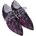 Purple Leaves Pointed Oxford Shoes View3