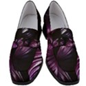 Purple Leaves Women s Chunky Heel Loafers View1