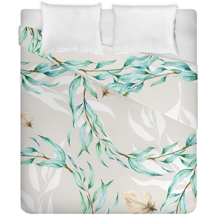 Floral Boho Watercolor Pattern Duvet Cover Double Side (California King Size)