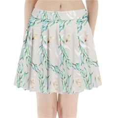Floral Boho Watercolor Pattern Pleated Mini Skirt