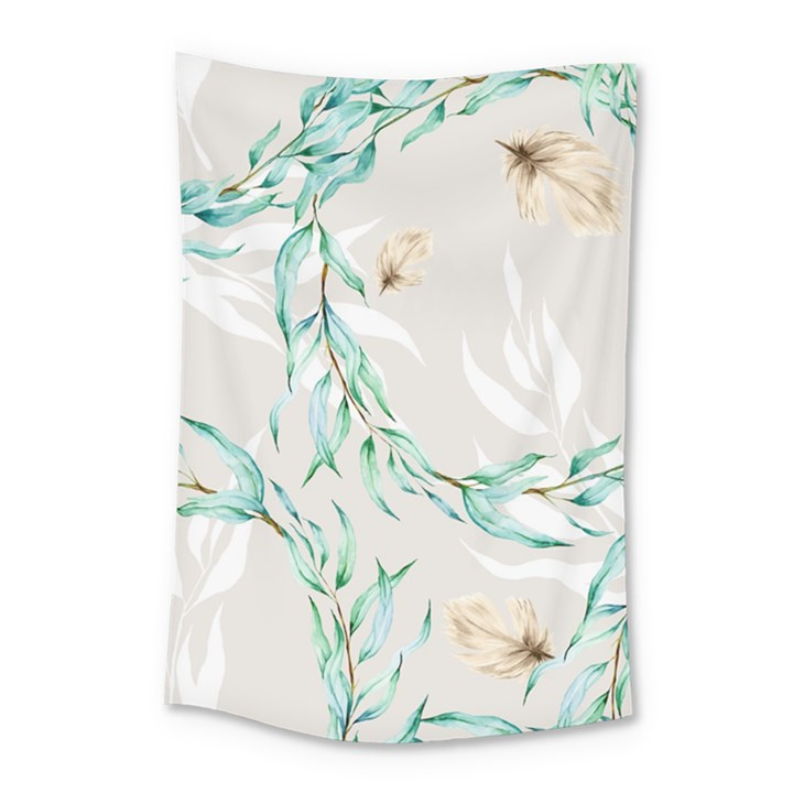 Floral Boho Watercolor Pattern Small Tapestry