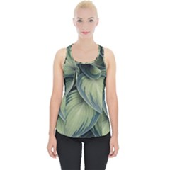 Closeup Photo Of Green Variegated Leaf Plants Piece Up Tank Top by Pakrebo