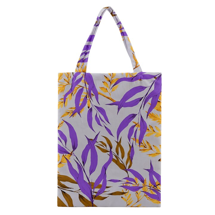 Floral Boho Watercolor Pattern Classic Tote Bag