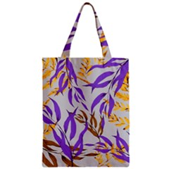 Floral Boho Watercolor Pattern Zipper Classic Tote Bag