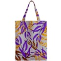 Floral Boho Watercolor Pattern Zipper Classic Tote Bag View1