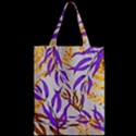 Floral Boho Watercolor Pattern Zipper Classic Tote Bag View2