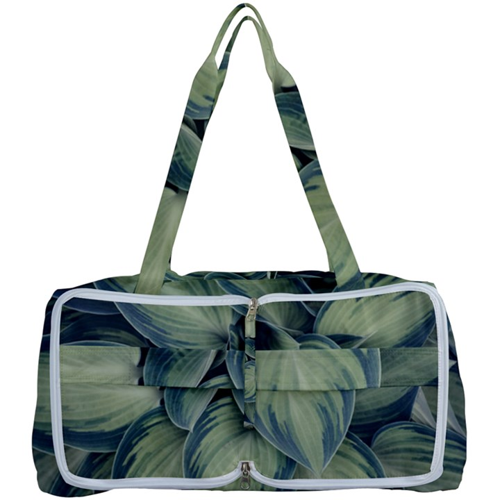Closeup Photo Of Green Variegated Leaf Plants Multi Function Bag