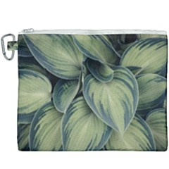 Closeup Photo Of Green Variegated Leaf Plants Canvas Cosmetic Bag (xxxl)