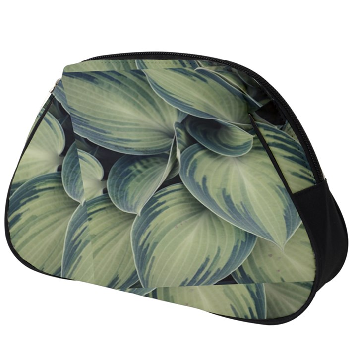Closeup Photo Of Green Variegated Leaf Plants Full Print Accessory Pouch (Big)
