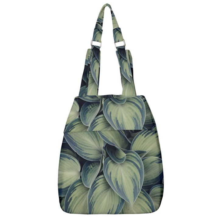 Closeup Photo Of Green Variegated Leaf Plants Center Zip Backpack