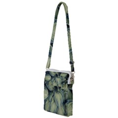 Closeup Photo Of Green Variegated Leaf Plants Multi Function Travel Bag