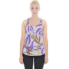 Floral Boho Watercolor Pattern Piece Up Tank Top