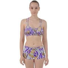 Floral Boho Watercolor Pattern Perfect Fit Gym Set