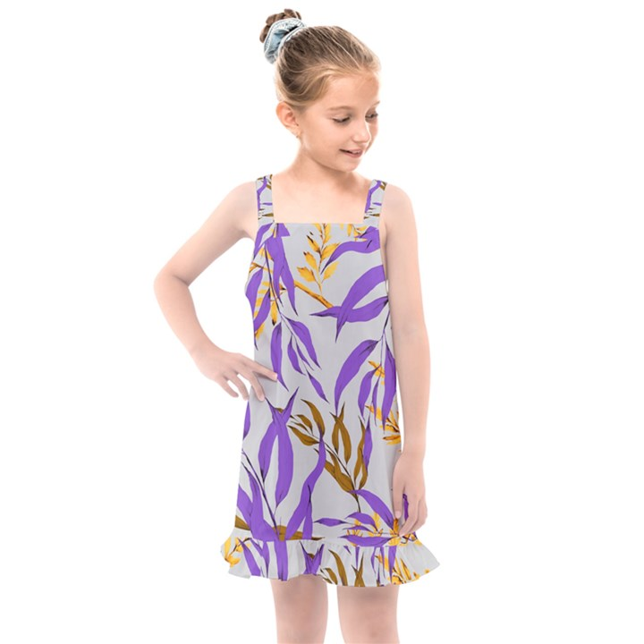 Floral Boho Watercolor Pattern Kids  Overall Dress